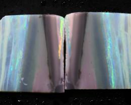 19.70cts Mintabie Rough Opal Sliced Rough Pair DT-A4971 - dreamtimeopals