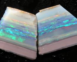 13.60cts Mintabie Rough Opal Sliced Rough Pair DT-A4974 - dreamtimeopals