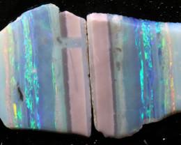 11.60cts Mintabie Rough Opal Sliced Rough Pair DT-A4977 - dreamtimeopals