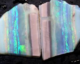13.65cts Mintabie Rough Opal Sliced Rough Pair DT-A4978 - dreamtimeopals