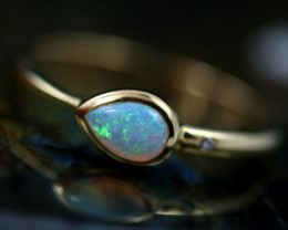Crystal Opal set in18 k Yellow Gold Ring Size 6   CK 632