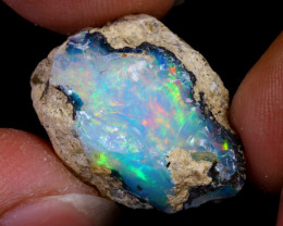 18cts Natural Ethiopian Welo Rough Opal / WR7813
