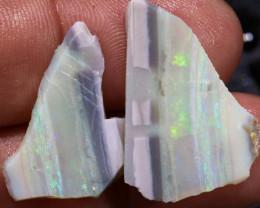 12.80cts Mintabie Rough Opal Sliced Rough Pair DT-A4982 - dreamtimeopals