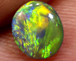 N 3- 0.60  cts   black opal stone lightning ridge TBO-3642TRUEBLUEOPALS
