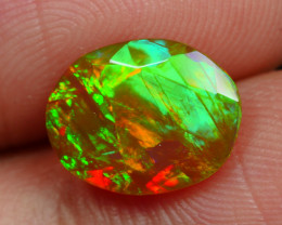 1.555 CRT BEAUTIFUL FACETED MULTI PLAY COLOR  WELO*