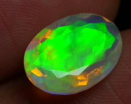 2.670 CRT BEAUTIFUL FACETED MULTI PLAY COLOR  WELO*
