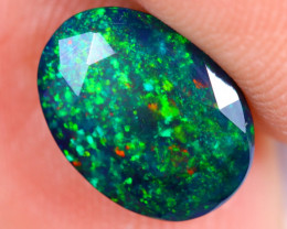 1.69cts Natural Ethiopian Welo Faceted Smoked Opal / NY2511