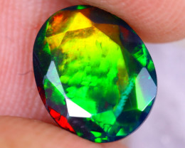 1.37cts Natural Ethiopian Welo Faceted Smoked Opal / NY2528