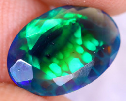 1.53cts Natural Ethiopian Welo Faceted Smoked Opal / NY2530