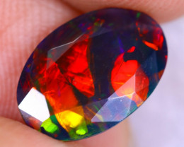 1.58cts Natural Ethiopian Welo Faceted Smoked Opal / NY2547