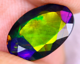 1.68cts Natural Ethiopian Welo Faceted Smoked Opal / NY2559