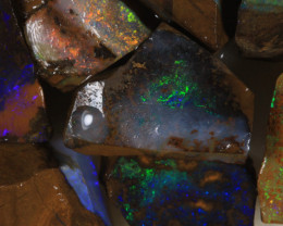 NO RESERVE!! #7 BOULDER Gamble Rough Opal [34309] 53FROGS