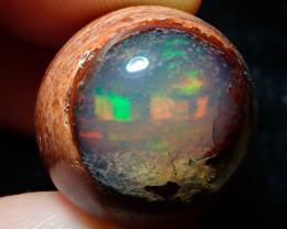 27.5ct Mexican Matrix Cantera Multicoloured Fire Opal