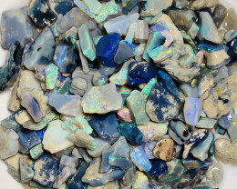 Colourful Black Chips Opals, See Below Info Please #1578