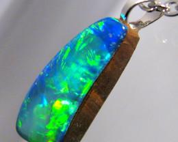 Australian Opal Pendant Sterling Silver Doublet 3.7ct