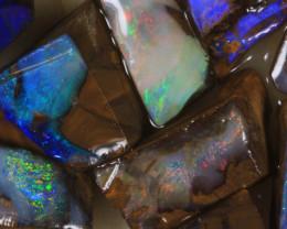 NO RESERVE!! #7 BOULDER Gamble Rough Opal [34318] 53FROGS