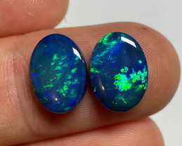 6.4ct Coober Pedy Opal Doublet Pair