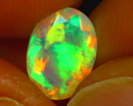 Welo Opal 1.10Ct Natural Ethiopian Play of Color Opal J1902/A44