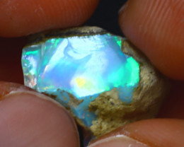 8.54Ct Multi Color Play Ethiopian Welo Opal Rough J1916/R2