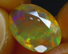 Welo Opal 1.28Ct Natural Ethiopian Play of Color Opal H2002/A44