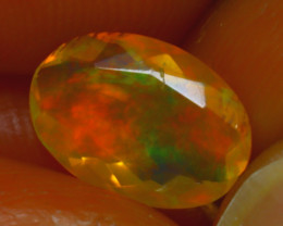 Welo Opal 1.03Ct Natural Ethiopian Play of Color Opal H2001/A44