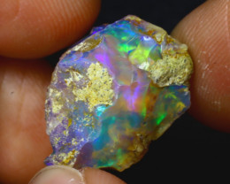 8.98Ct Multi Color Play Ethiopian Welo Opal Rough H2017/R2