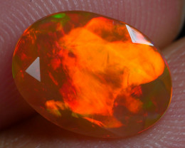 1.170 CRT BEAUTIFUL FACETED MULTI PLAY COLOR  WELO*