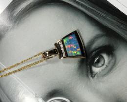 Opal inlay Pendant/slide