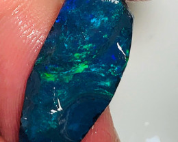N1 Black Seam Opal with Beautiful Green Colour Play - Need Carve & Polish