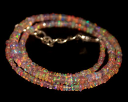 32.90 Crts Natural Welo Dyed Pink Opal Beads Necklace 209