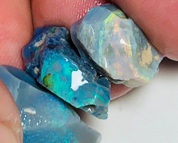 Rough Seam Opals with Thick Bright Bars to Cut