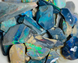 Bright & Multicolour Rough Seam Opals - Great Potential to Cut