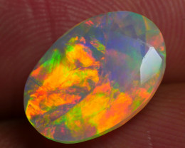 2.025 CRT BEAUTIFUL FACETED MULTI PLAY COLOR  WELO*