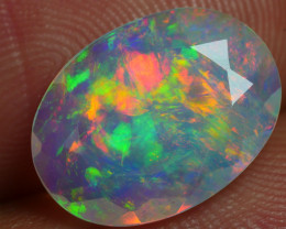 2.170 CRT BEAUTIFUL FACETED MULTI PLAY COLOR  WELO*