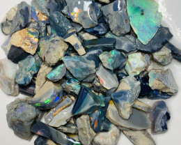 320 CTs of Colourful Gamble Rough Seam Opals #1620