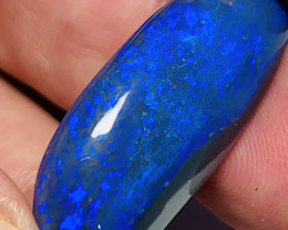 $3500 RRP, Massive N1 Top Gem Black With Exquisite Blue, Magnificent Stone