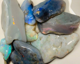 Cutters Select Big Bright Multicolour Rough Seam Opals