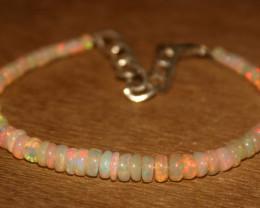 19.60 Crts Natural Ethiopian Welo Opal Beads Bracelet 12