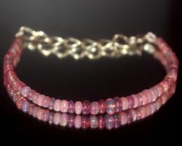 11 Crts Natural Ethiopian Welo Dyed Pink Opal Bracelet 001