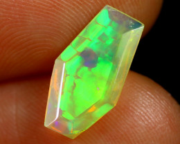 1.63cts Natural Ethiopian Coffin Cut Double Faceted Welo Opal /BF7471