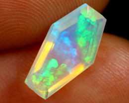 1.47cts Natural Ethiopian Coffin Cut Double Faceted Welo Opal /BF7472