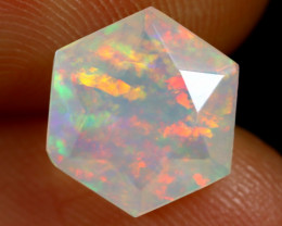 1.89cts Natural Ethiopian Hexagon Faceted Welo Opal /BF7473