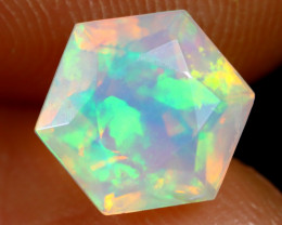1.25cts Natural Ethiopian Hexagon Faceted Welo Opal /BF7475