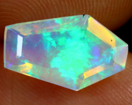 1.65cts Natural Ethiopian Coffin Cut Double Faceted Welo Opal /BF7476