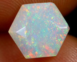 1.54cts Natural Ethiopian Hexagon Faceted Welo Opal /BF7477