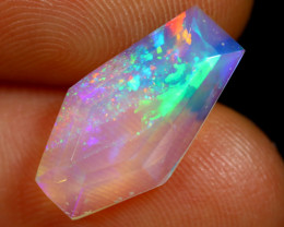 2.46cts Natural Ethiopian Coffin Cut Double Faceted Welo Opal /BF7480