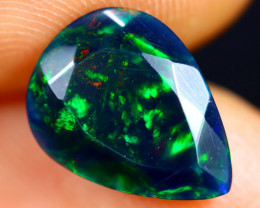 1.75cts Natural Ethiopian Faceted Smoked Welo Opal / BF7447