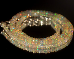 42. Crts Natural Welo Faceted Opal Beads Necklace 288