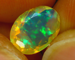 Welo Opal 1.03Ct Natural Ethiopian Play of Color Opal H2201/A44