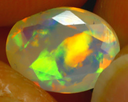 Welo Opal 1.26Ct Natural Ethiopian Play of Color Opal H2206/A44